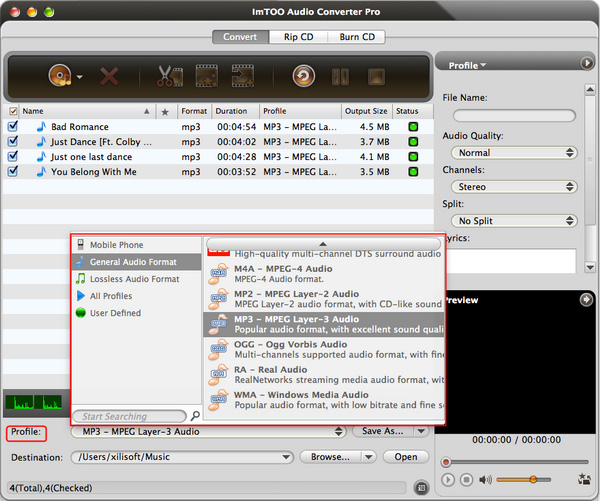 AIFF to MP3 converter