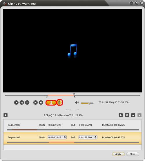 ImTOO Audio Converter Pro - Clip