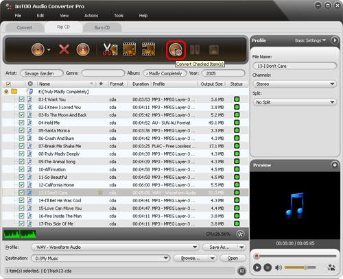 convert CD to 320kbps MP3