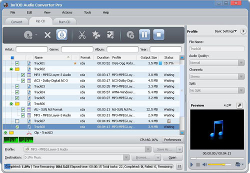 How to extract music from CD to MP3? - ImTOO