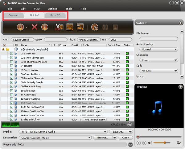 load CDA files