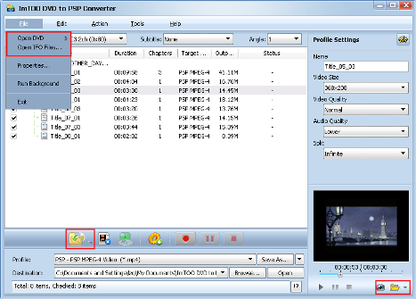 ImTOO DVD to PSP Converter Guide - Add DVD