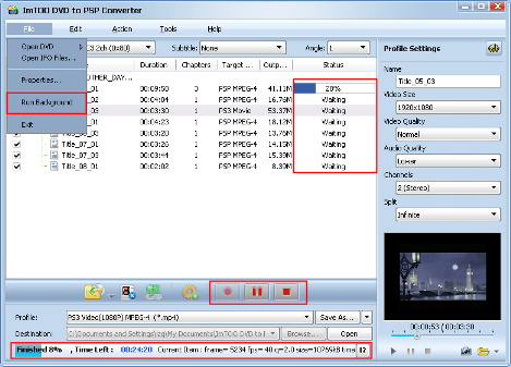 ImTOO DVD to PSP Converter Guide - Extract file