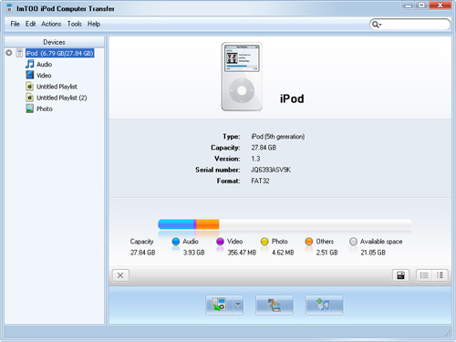 Guide - How to use ImTOO iPod Computer Transfer