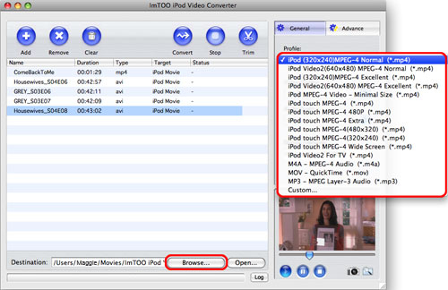 ImTOO iPod Video Converter for Mac
