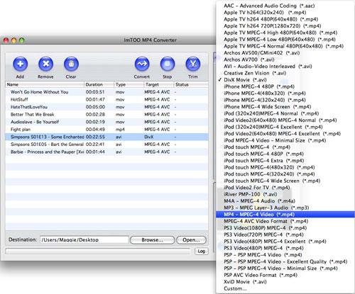 ImTOO MP4 Converter for Mac